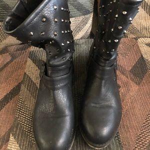 Sketchers studded black boots size 7.5